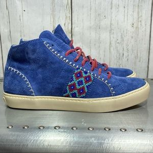 Pantofola D'Oro Blue Suede Mid tops